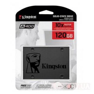 "NEW Kingston SSDNow A400 120GB 2.5"" SATAIII TLC 2.5"" / 120 ГБ / Шв. запису :320 Мб/сек / Шв. читання : 500 Мб/сек / TLC / SATA3 / 1 млн.год"