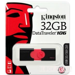 32GB Kingston DT 106 (DT106/32GB) 32 ГБ / USB 3.1 / пластик, гума