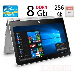 """14"""" HP x360  HD i3 7100U / 8 GB DDR4 / 256 GB M.2 SSD Сенсорный Экран"""